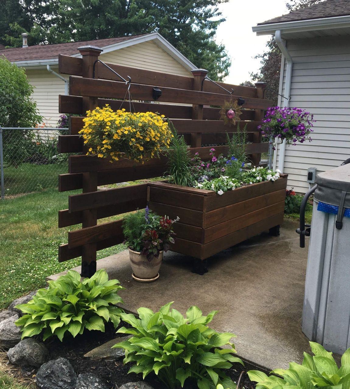 Deck railing planter box in 2020 easy raised garden bed