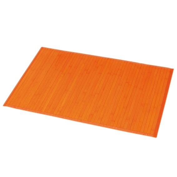 Tapis de bain Lattes bambou Orange : choisissez parmi tous ...