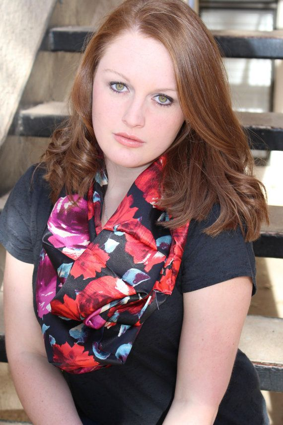 Rose Floral Infinity Scarf by kaylambarber on Etsy, $18.00 (please repin)