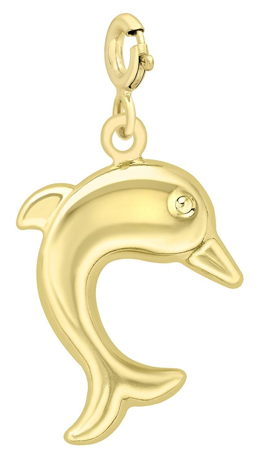 Carissima Gold 9 ct Yellow Gold Dolphin Charm Pendant
