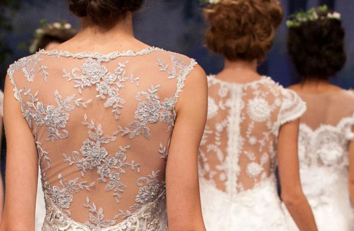 Claire Pettibone lace-back gowns