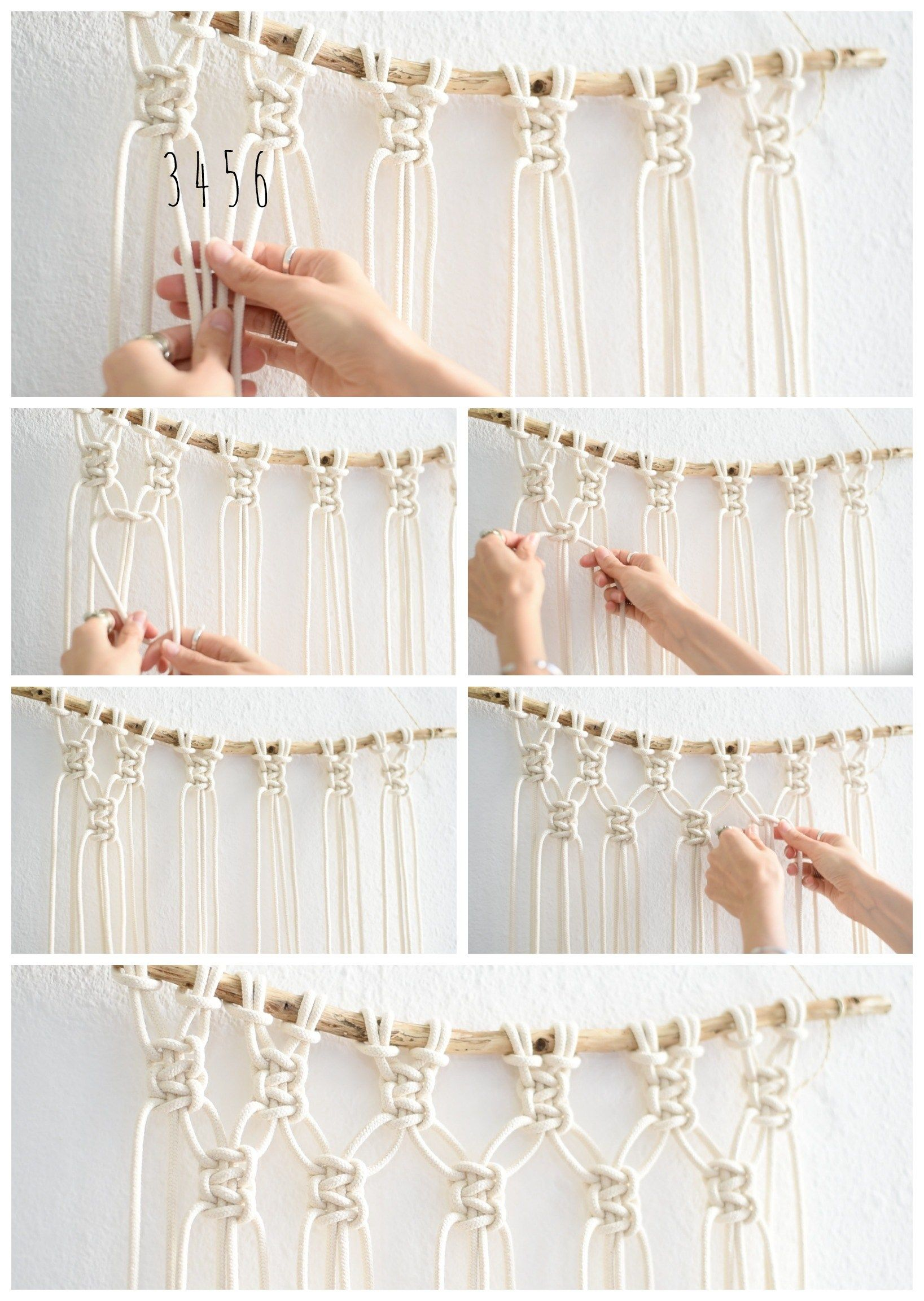 interior super easy diy macrame wall hanging tutorial diy rh pinterest com