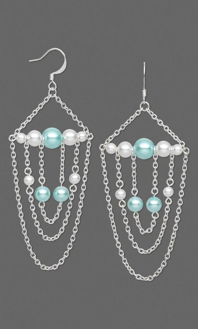 Beaded Chain Earrings Craft Ideas From Lc Pandahall Com Beading