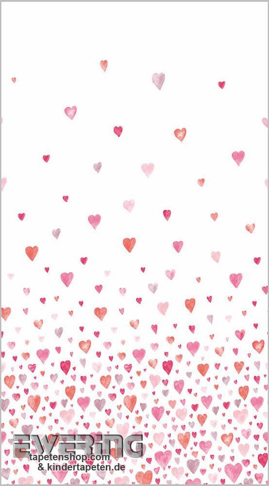 36-aep28268308 alice & paul casadeco rosa-rot stoff-paneel herz ... - Kinderzimmer Rosa Rot
