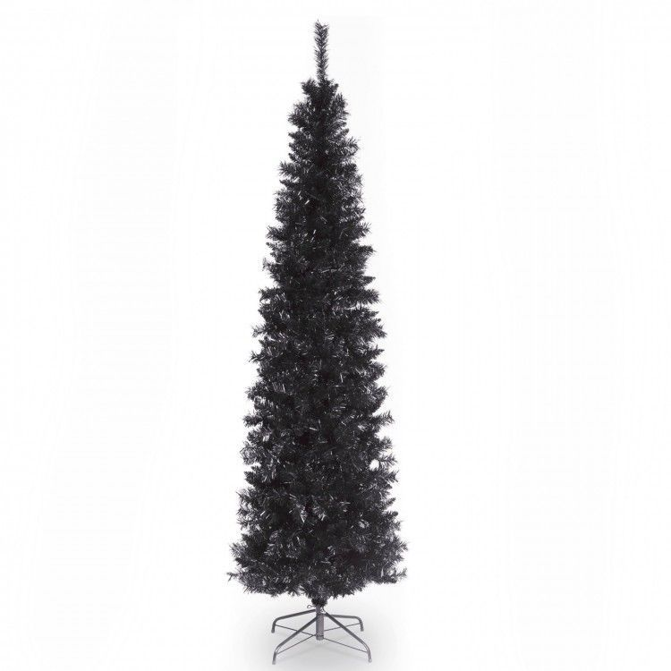 Artificial Christmas Tree 6 Ft Black Tinsel Unlit with Stand Xmas Holiday  Season #DevineBestBuys - Details About Artificial Christmas Tree 6 Ft Black Tinsel Unlit With