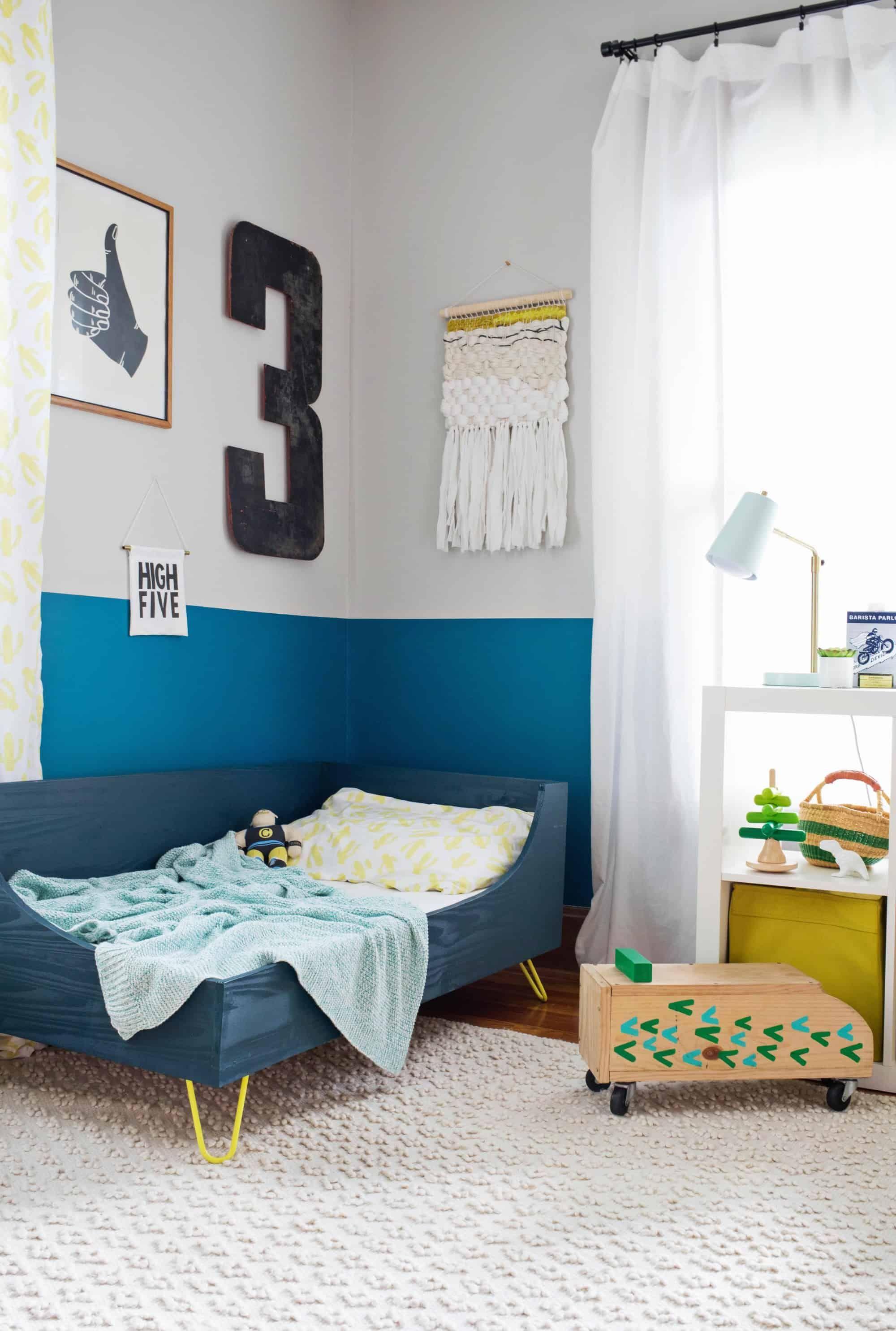 Modern Toddler Bed DIY | home - little ones | Diy toddler ...