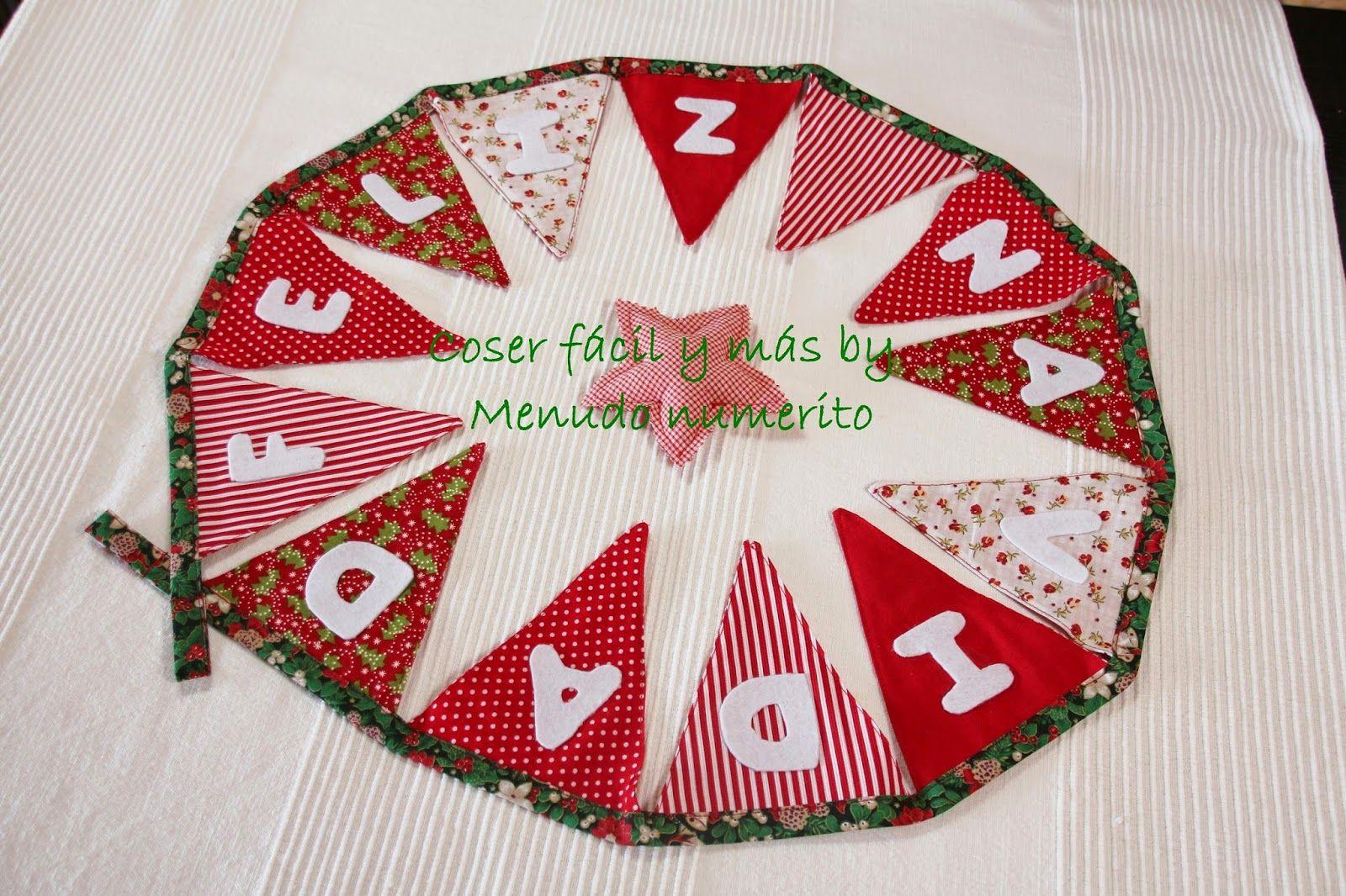 Adornos de navidad guirnalda de banderines navide a for Navidad adornos manualidades navidenas