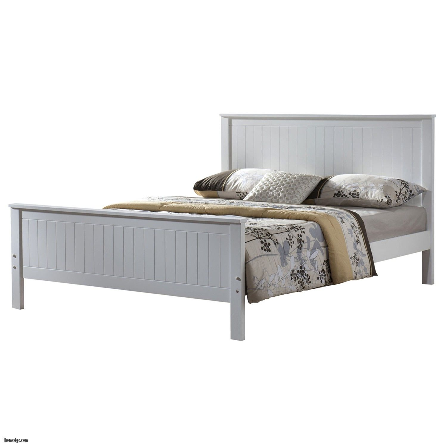 New Amazing White Bed Frame , Larissa White Wooden Bed