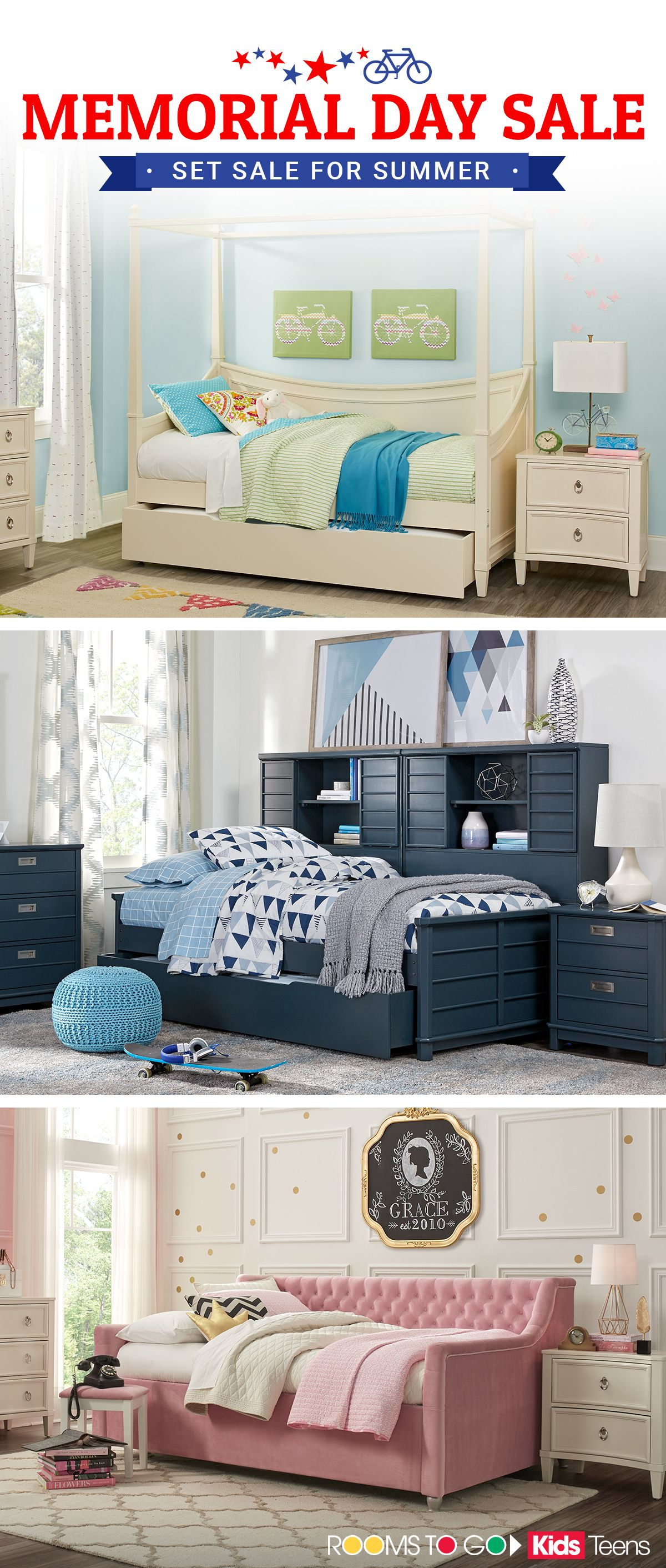Set Sale For Summer With Great Savings On Girls Rooms Boys Rooms