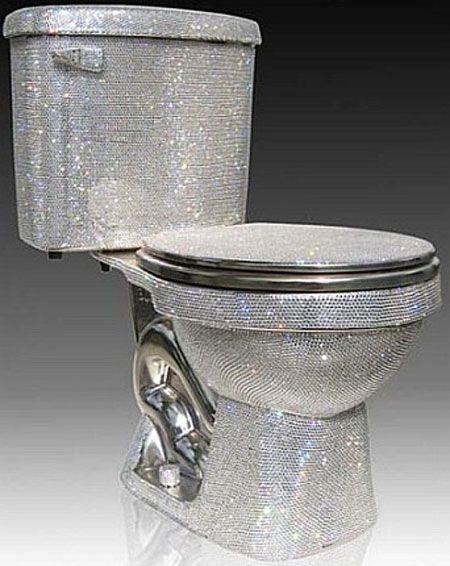 Swarovski Toilet. yes. a crystal toilet. the perfect potty.