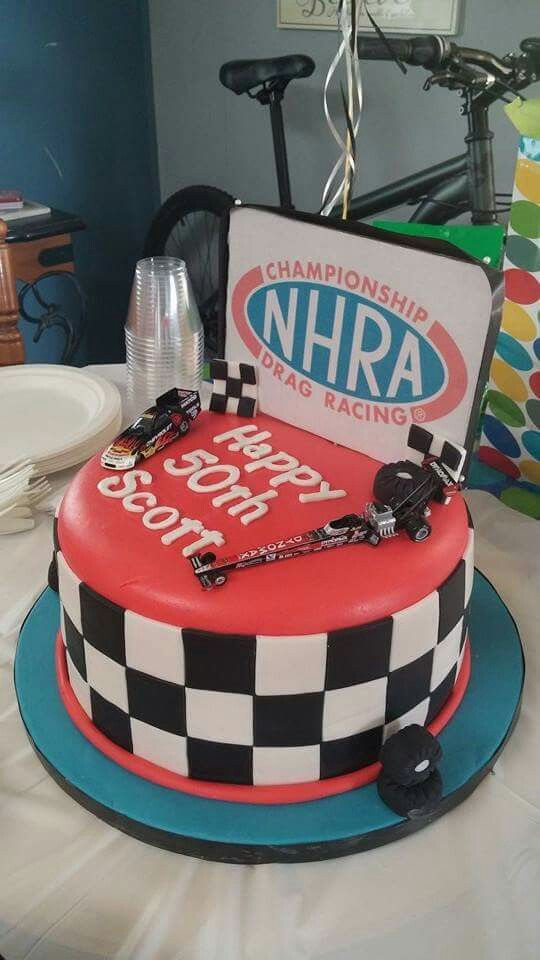 My First Drag Racing Cake