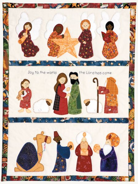 Nativity Scene Wall Hanging – Quilting and Quilt Patterns   crafts ... : nativity quilt pattern - Adamdwight.com