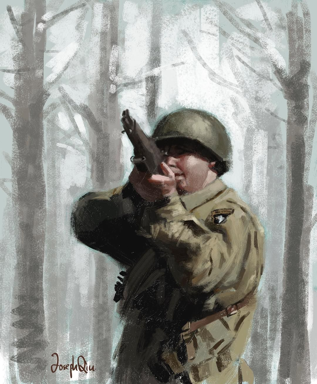 WWII US Paratrooper Sketch. #ww2 #soldier #military #usa