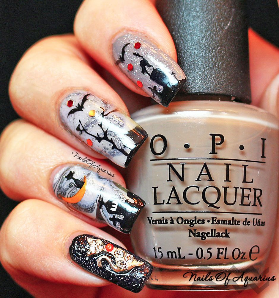 Halloween Nail Art Stickers Nail Water Decals Transfers Ghosts ...