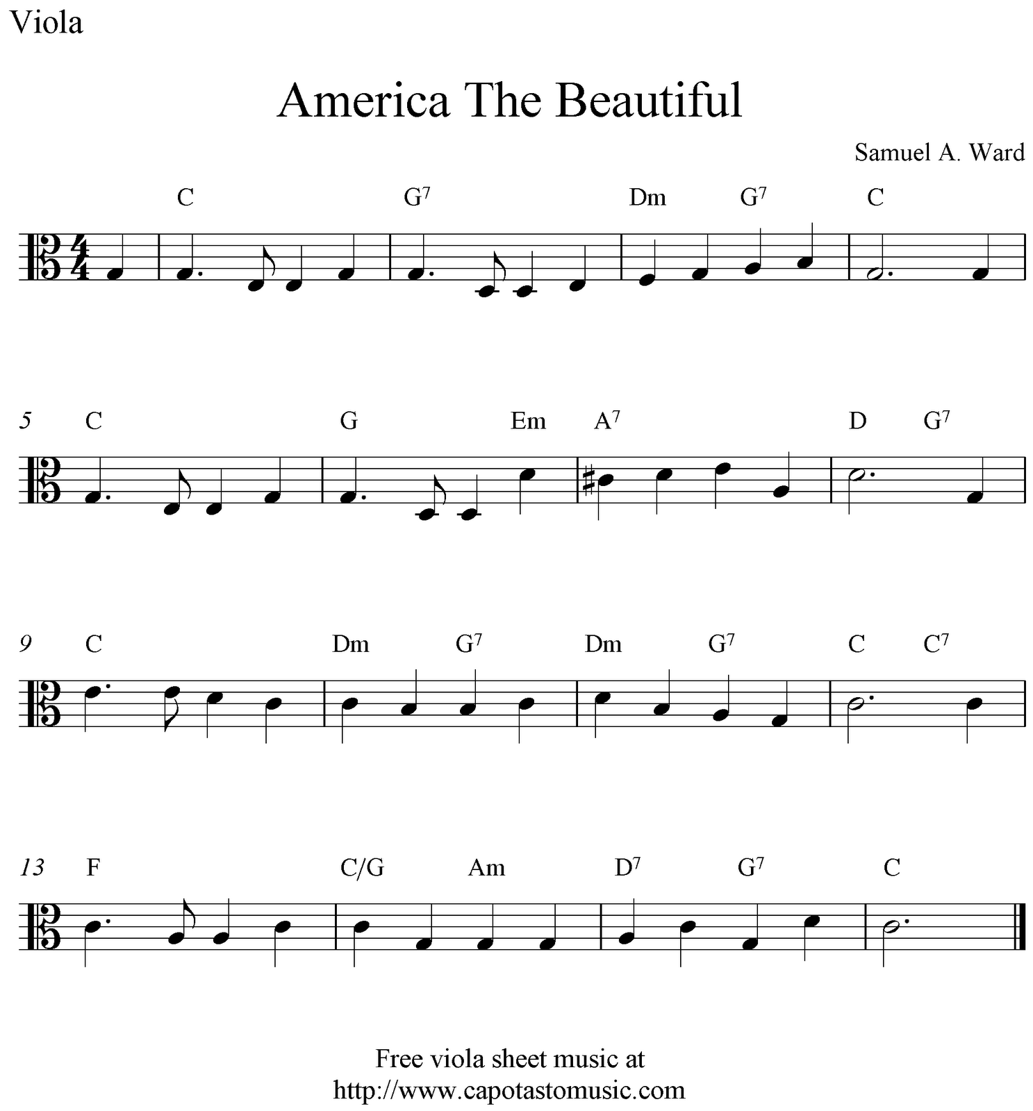 This is an image of Dynamite Free Printable Sheet Music for the Sound of Music