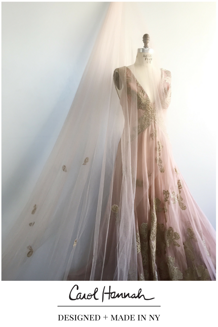 Whimsical wedding gown and bridal veil wedding accessory ideas for