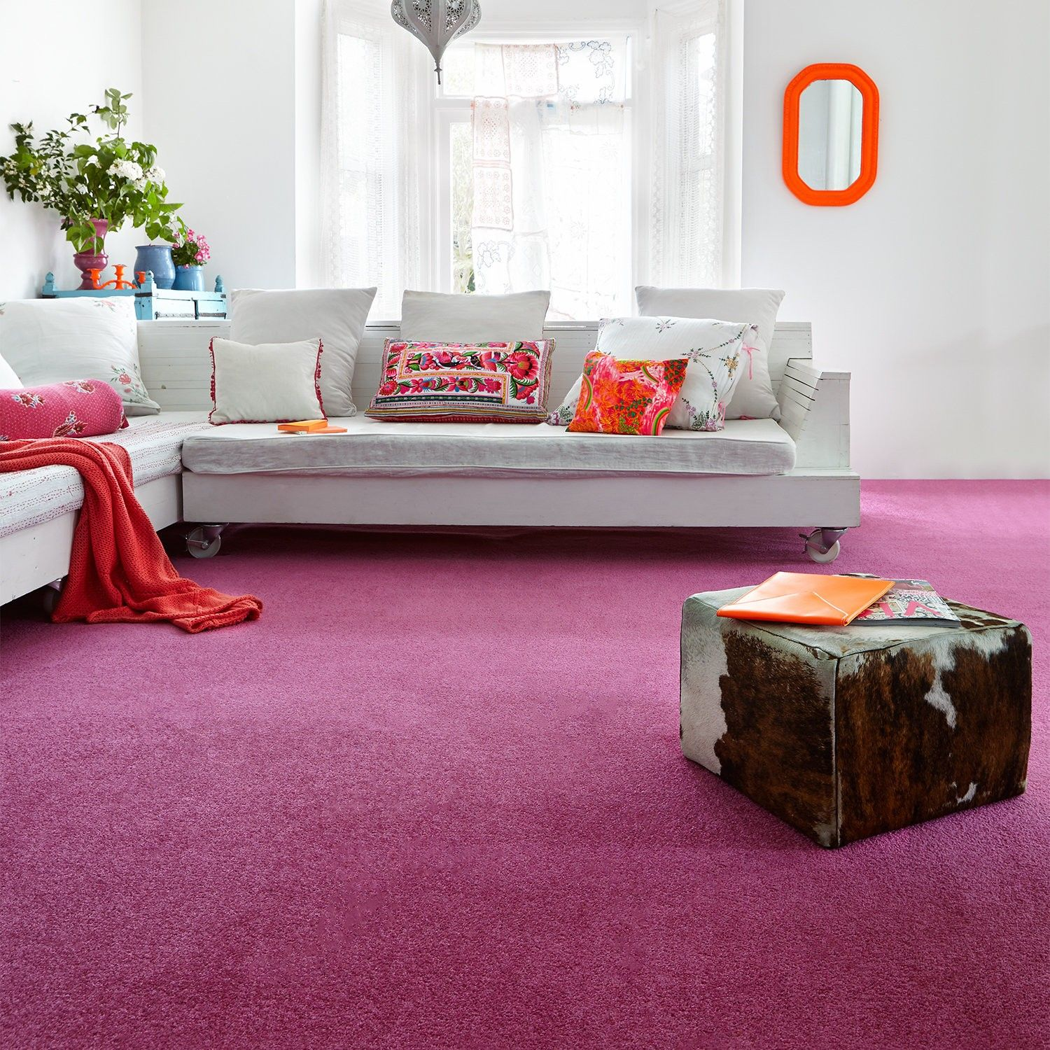 Amberley Twist Plain Carpet Bedroom Carpet Living Room Carpet Pink Living Room