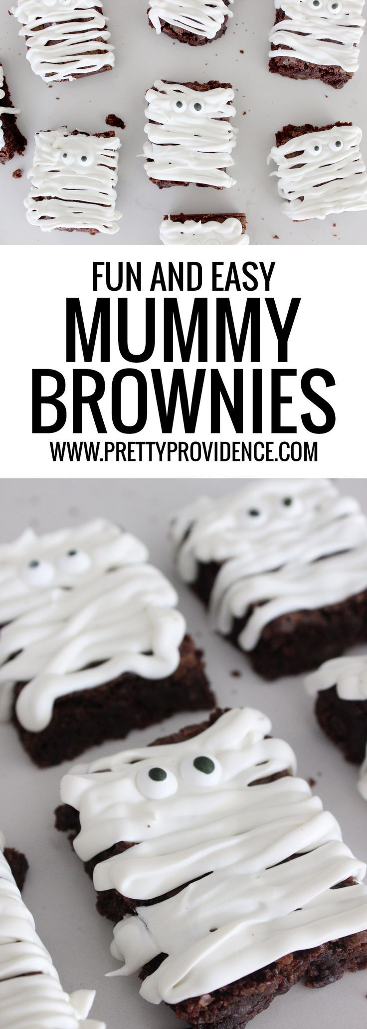 Mummy Halloween Brownies -