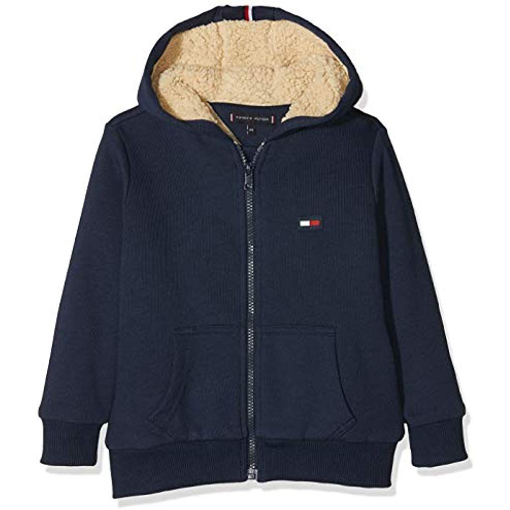 Tommy Hilfiger Jungen Soft Teddy Jacket Strickjacke Bekleidung Jungen Tops T Shirts Hemden Langarmshirts Bekleidung J Nike Jacket Jackets Athletic Jacket