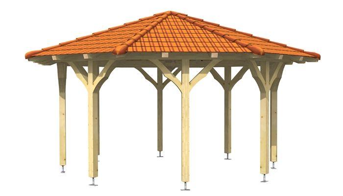 Holzpavillon für CNC-Abbund