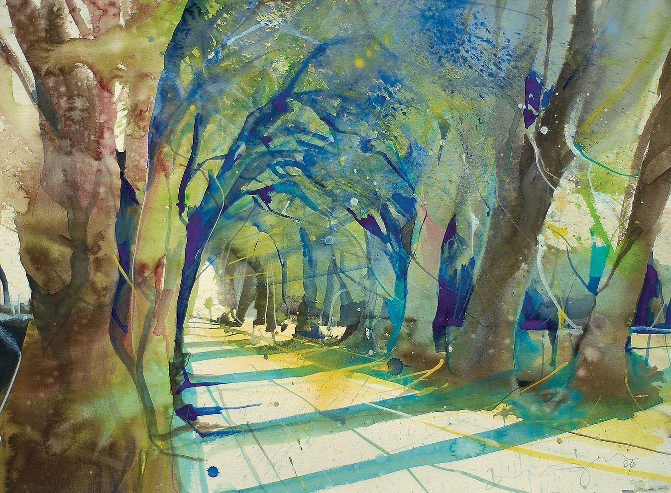 Werke Bernhard Vogel Bernhard Vogel Wasserfarben Kunst