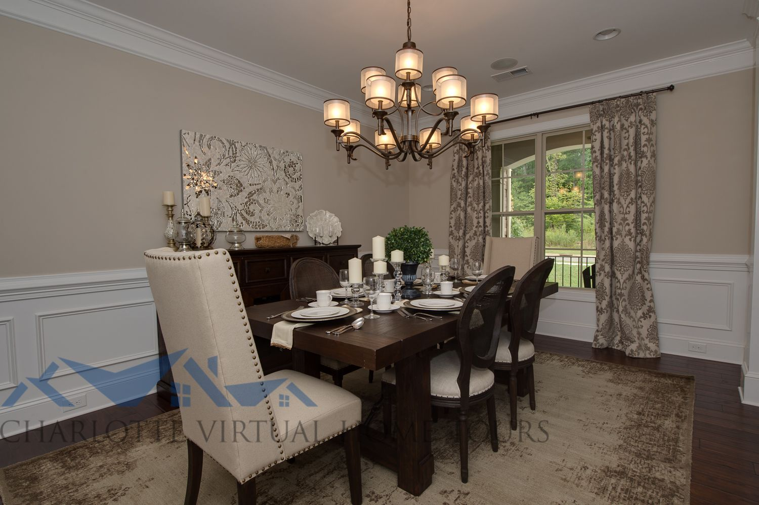 Essex Homes - Katherine Model Dining Room SW Accessible Beige Kichler Lacey Lighting