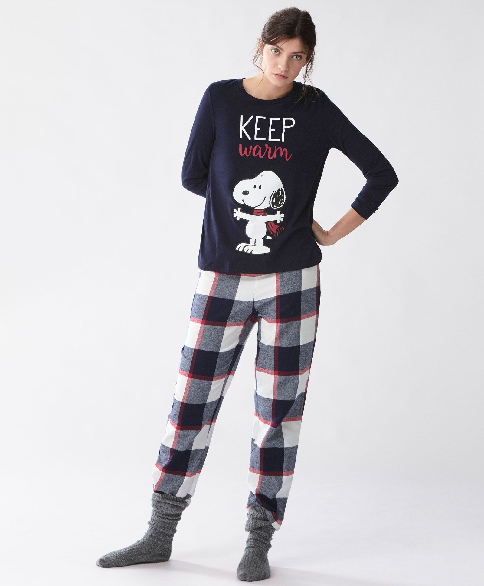 46dc36f4d1 Snoopy pajama pack - Most Wanted - Winter SALE 2016 trends in women fashion  at Oysho online. Find lingerie, pyjamas, slippers, nighties, gowns, fluffy,  ...