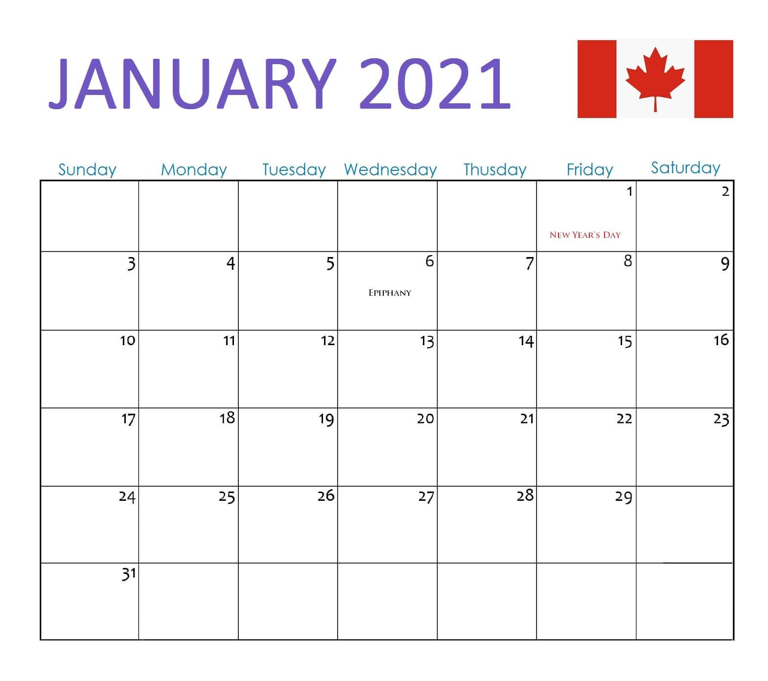 Download free printable 2021 monthly calendar with us holidays and customize template as you like. January 2021 Calendar Canada with Holidays   2021 calendar ...