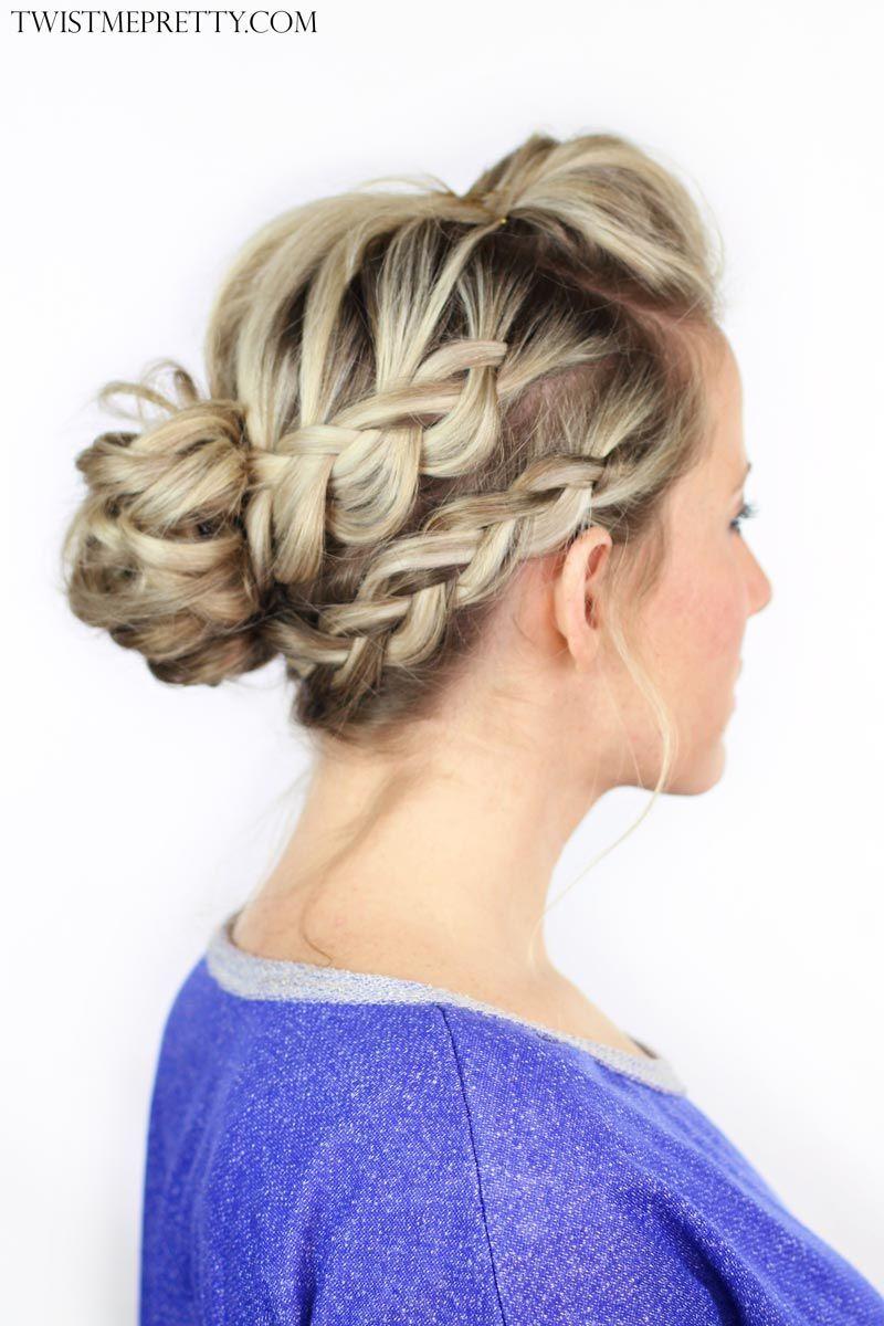 double braided messy bun | hair-do's | messy bun hairstyles