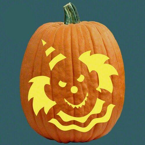 pumpkin template it clown  Clown pumpkin   Pumpkin carving templates free, Pumpkin ...