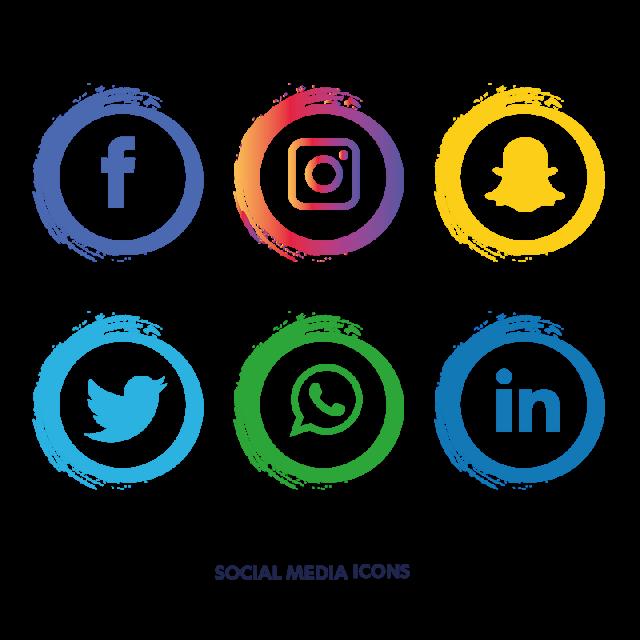 Social Media Icons Set Facebook, Social Media Icons