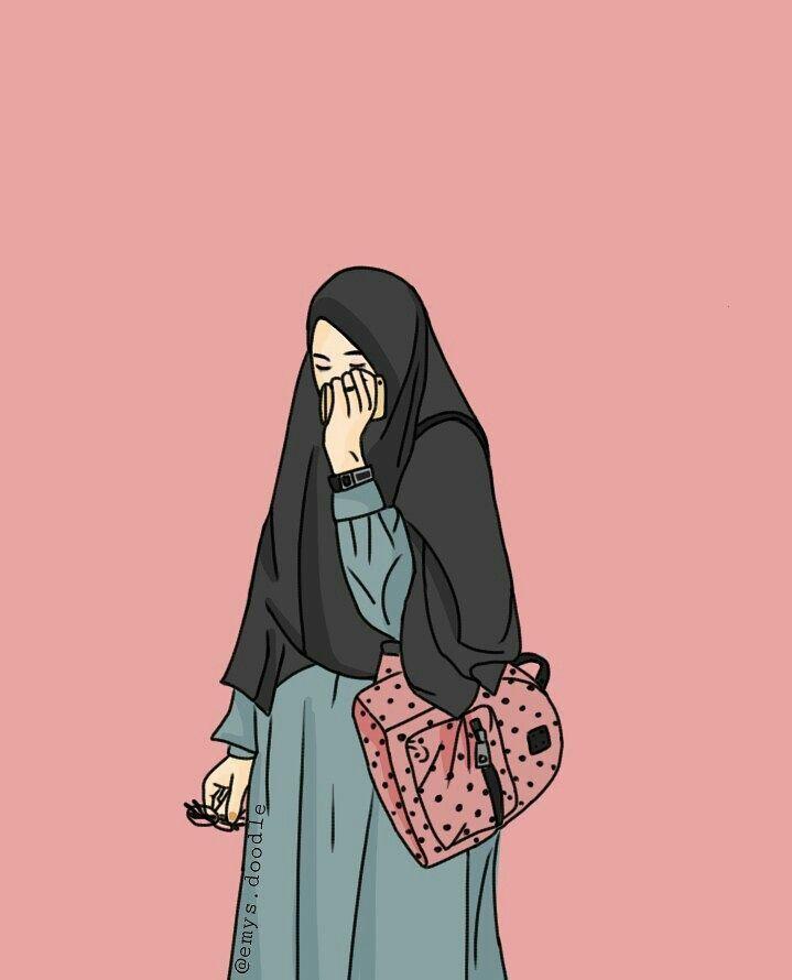 Gambar kartun lucu untuk profil wa original cara membuat. I Love Hijab Hfz Kartun Gambar Ilustrasi Karakter