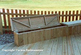 Outdoor Storage Bench Vertical Slat Design Diy Storage Bench