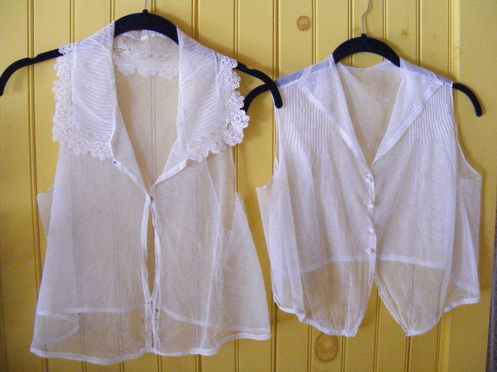 Edwardian Dickies Camisoles Sheer Net Blouses Victorain