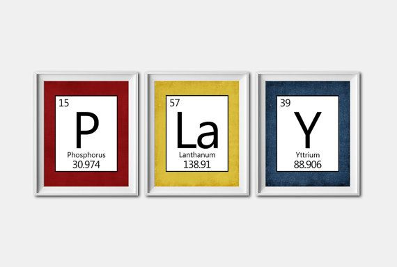 INSTANT DOWNLOAD - Set of 3 - 8X10 - new periodic table download