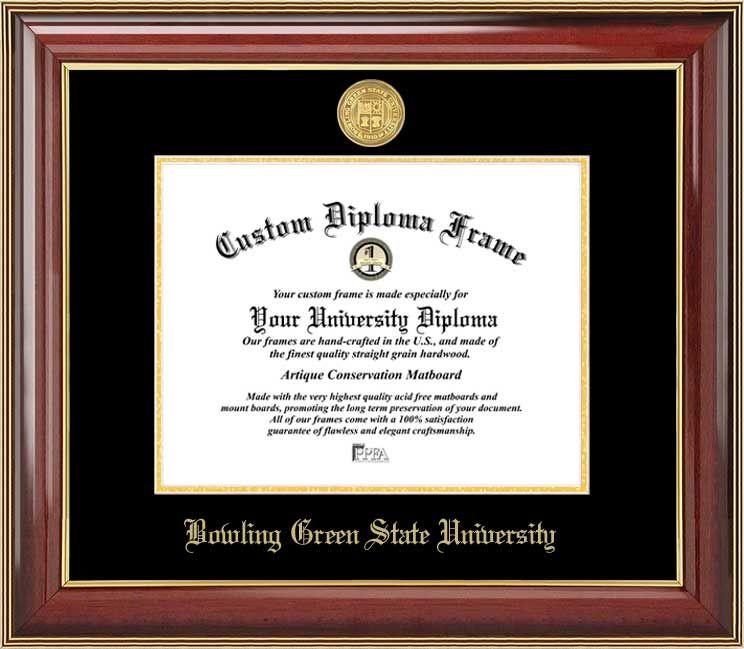 Bowling Green State University Diploma Frame Gold