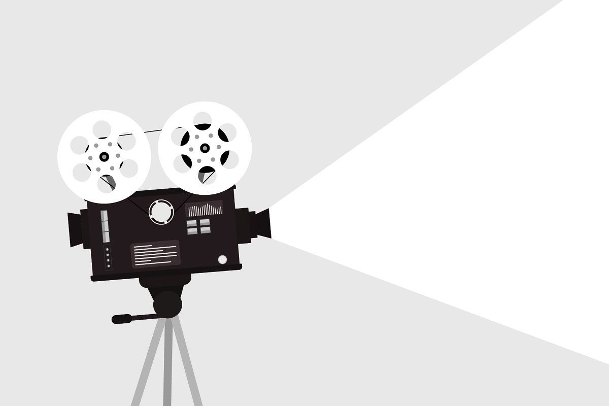 Movie Time Concept Camera Drawing About Time Movie Camera Cartoon