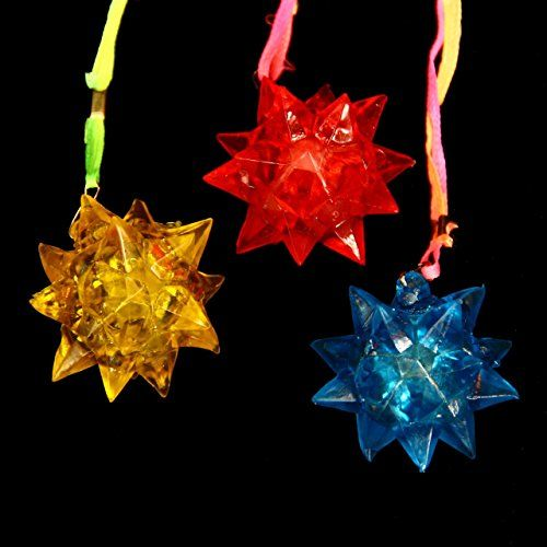 Dazzling Toys Crystal Star Necklace (Green,Yellow,Blue,Red)  - Pack of 12 - Great for Parties and for Halloween dazzling toys http://www.amazon.com/dp/B00HW2DQUU/ref=cm_sw_r_pi_dp_X2JUvb1DPXHQK