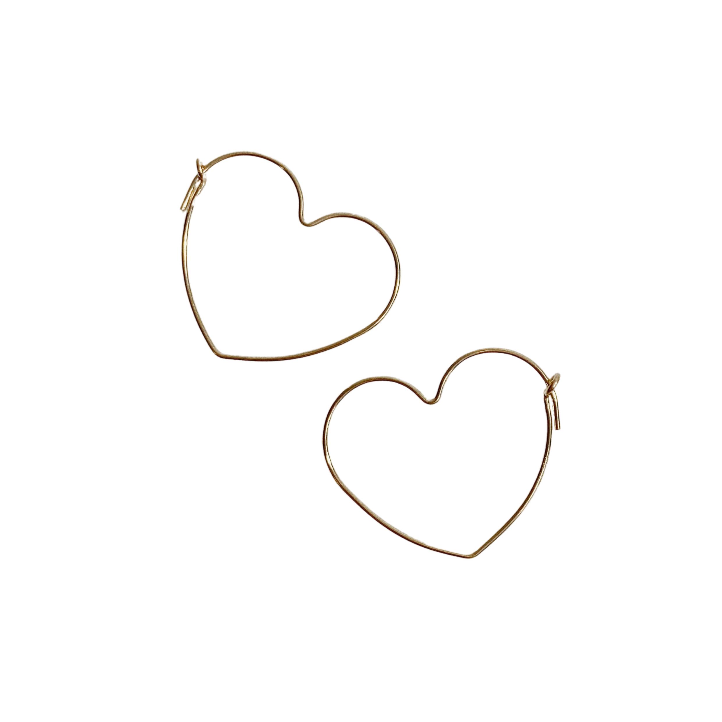 Photo of Heart Hoops Earrings