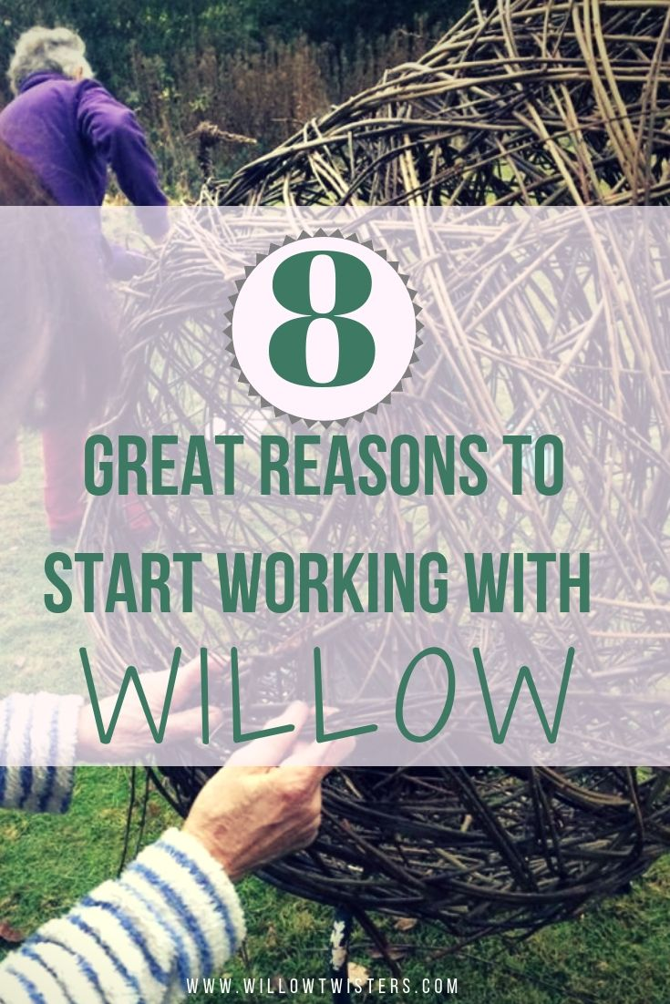 8 Great reasons to start working with willow, wicker, crafting with willow
