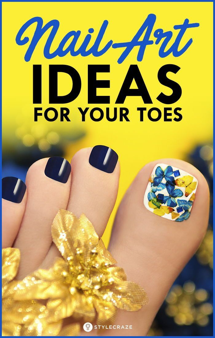 12 Nail Art Ideas For Your Toes Nail Art On Toes Look Very Pretty