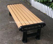 Backless Wooden Garden Bench Cast Aluminum Legs Wooden Garden Benches Outdoor Bench Garden Bench