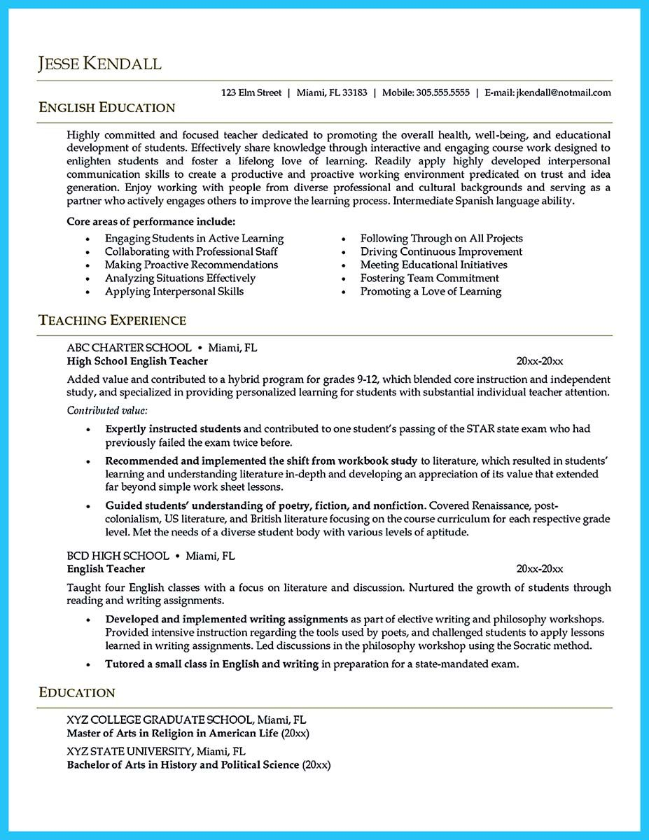 There are several parts of assistant teacher resume to concern ...