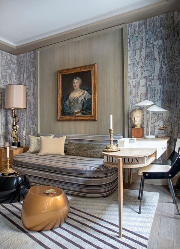 An th century family portrait reigns over the contemporary paris library of designer jean louis deniot also past meets present old world art in st interior yes rh fr pinterest