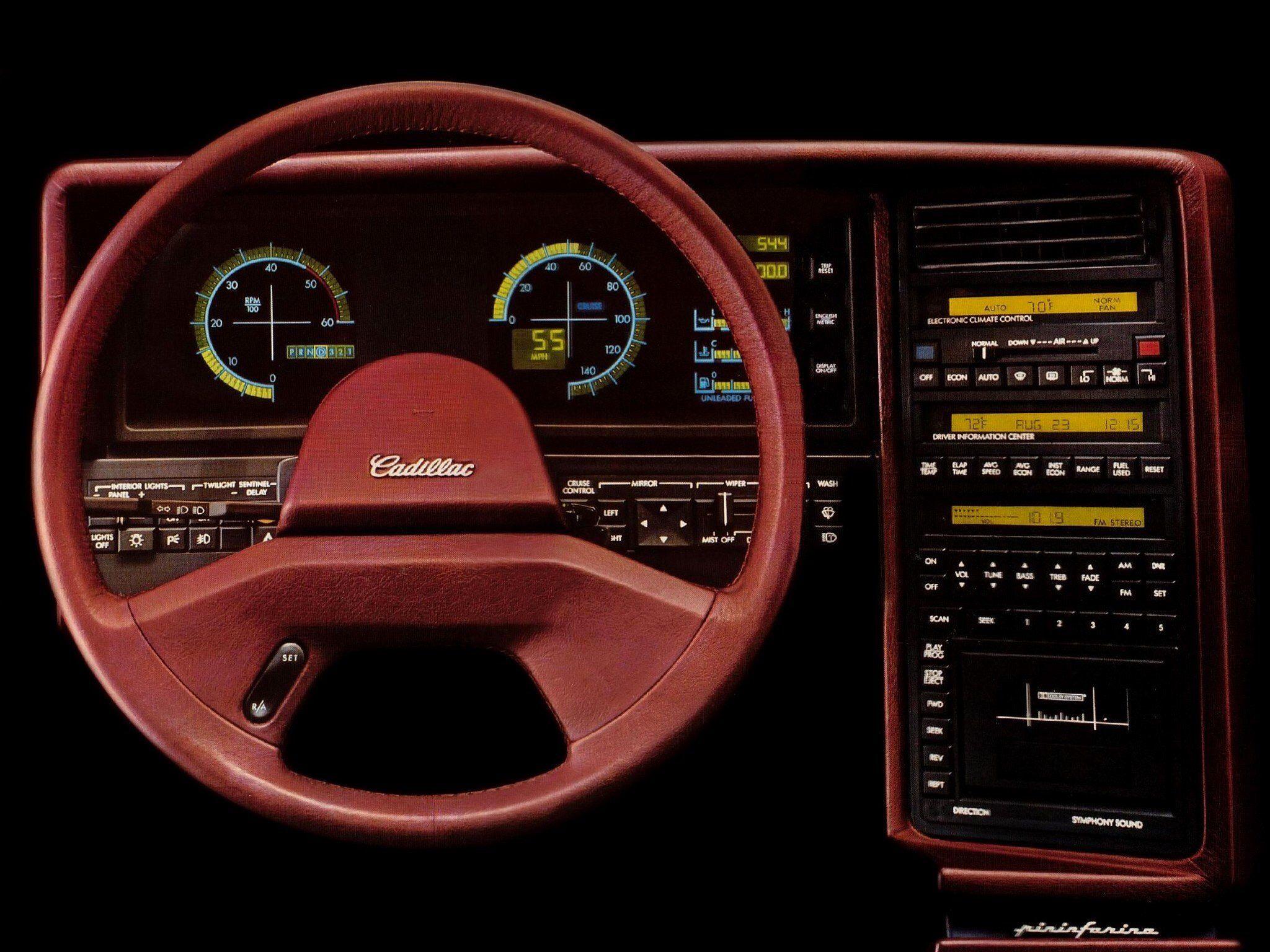 1988 Cadillac Allante by Pininfarina dash | MOODBOARD