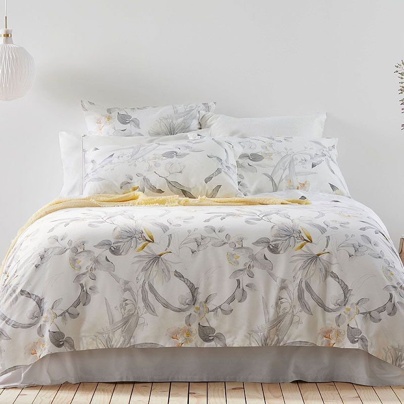The Kurana Dove Quilt Cover By Sheridan Features A Stunning Colour