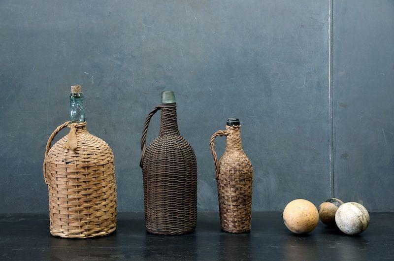 Vintage French Wine Bottles / Garrafões  de Vinho Franceses Antigos