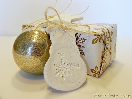Stamped Clay Gift Tags  Mad in Crafts