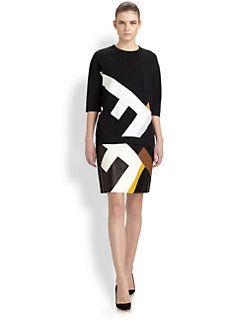 Fendi - Leather Maxi F Skirt t Saks.
