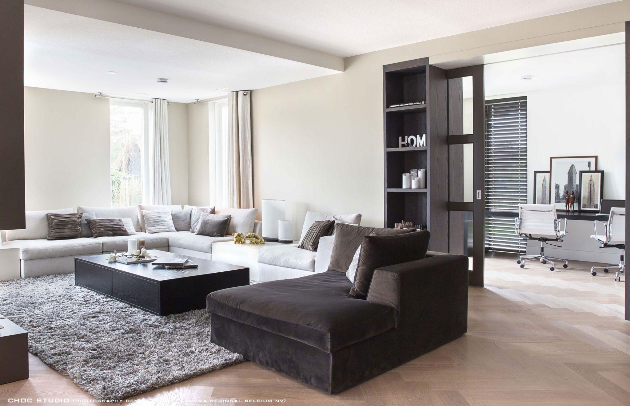 Tijdloos en luxe interieur nieuwbouw villa choc studio obly